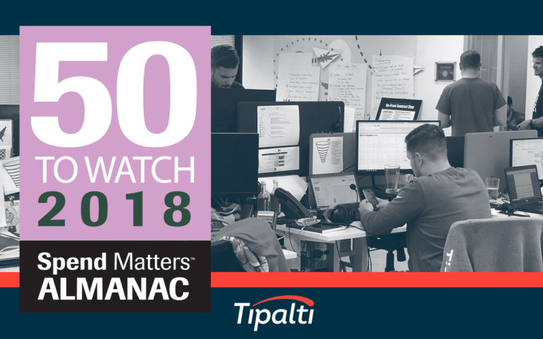 Tipalti Named a 2018 Spend Matters Provider to Watch 1